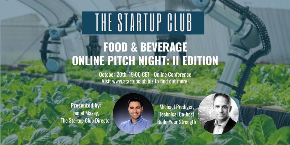 Food & Beverage Online Pitch Night
