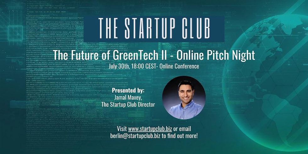 The Future of GreenTech II - Online Pitch Night