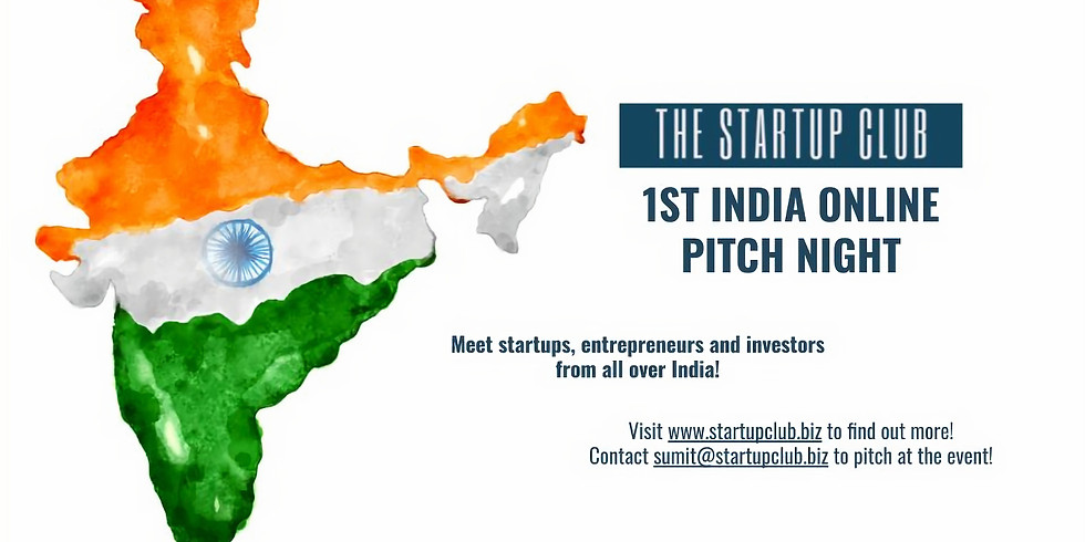 1st India Online Pitch Event