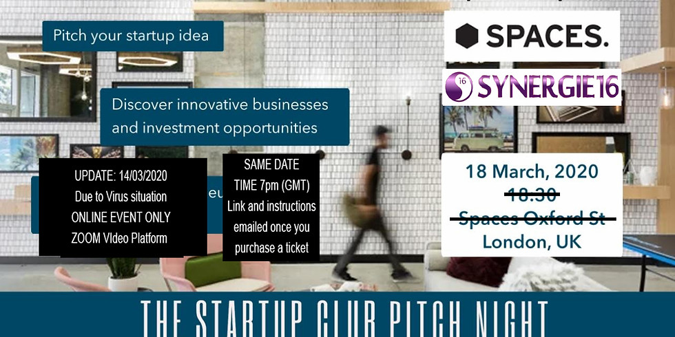 Startup London Club Pitch Night - ONLINE (Zoom)