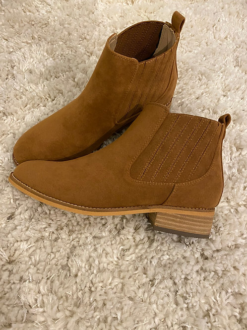 Whiskey Suede Booties