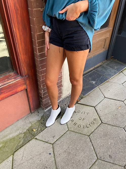 White Chelsea Ankle Booties
