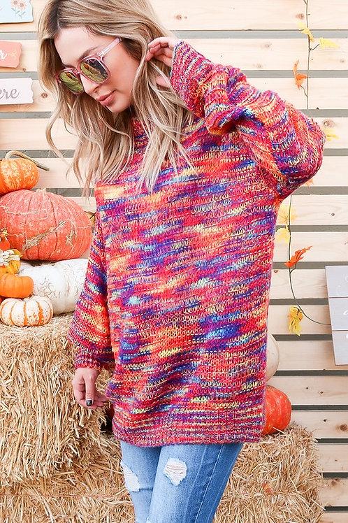 Multicolor Yarn Sweater