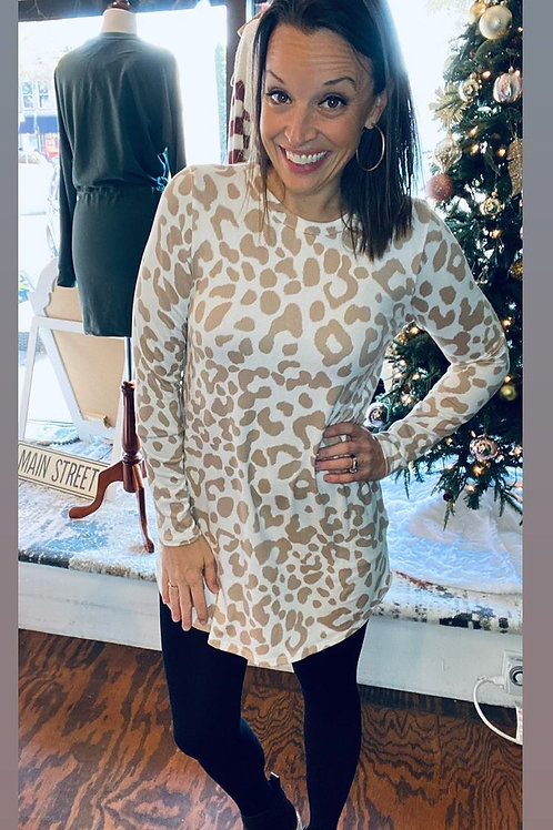 Taupe Animal Print Tunic