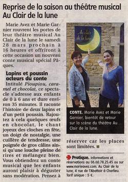 """""""Le Pays Roannais"""" 20/03/15"""
