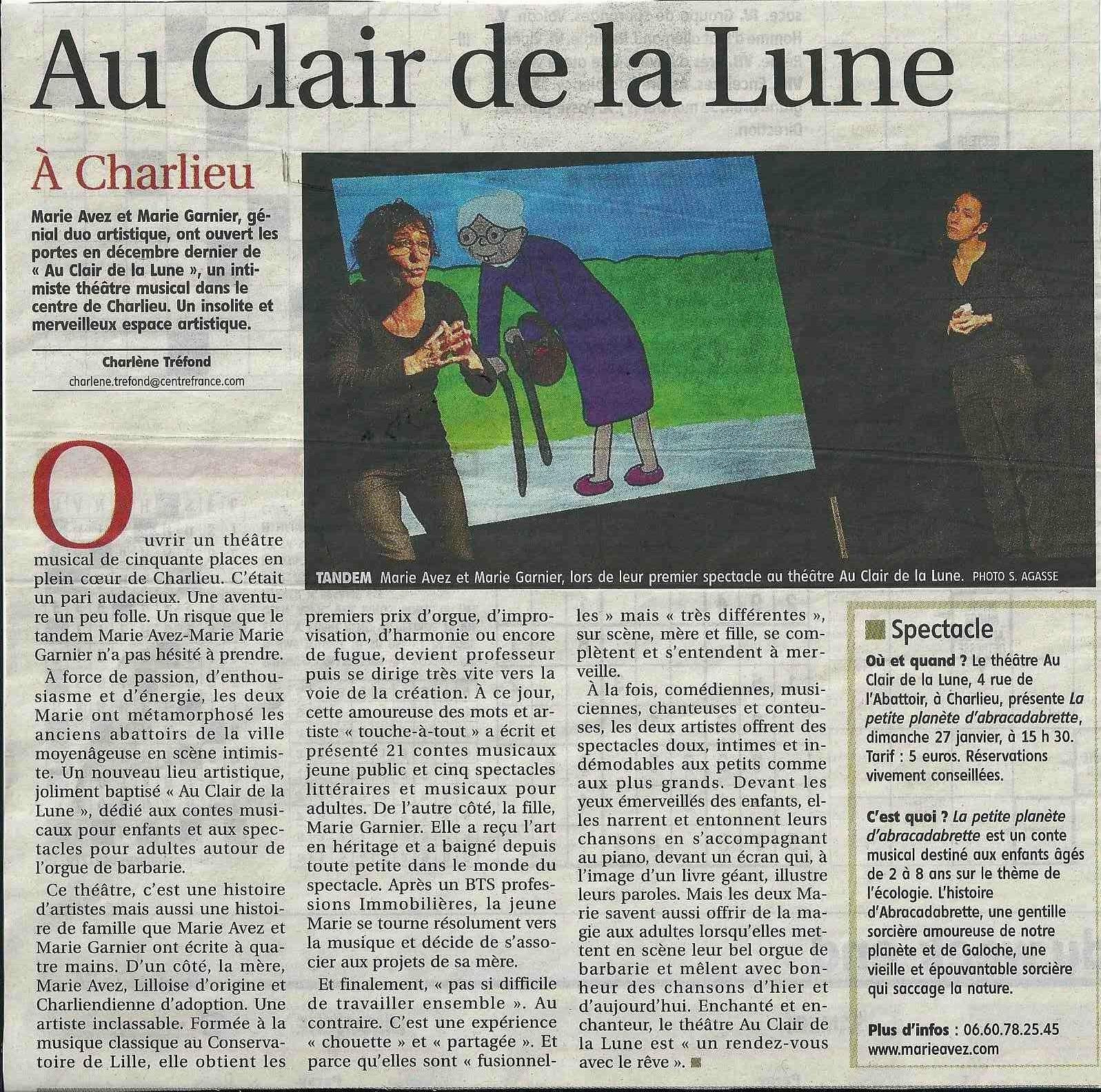 """""""Le Pays Roannais"""" 24/01/13"""