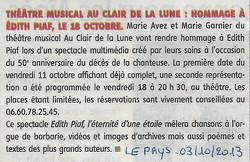 """""""Le Pays Roannais"""" 03/10/13"""