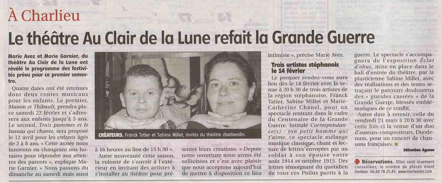 """""""Le Pays Roannais"""" 06/02/14"""