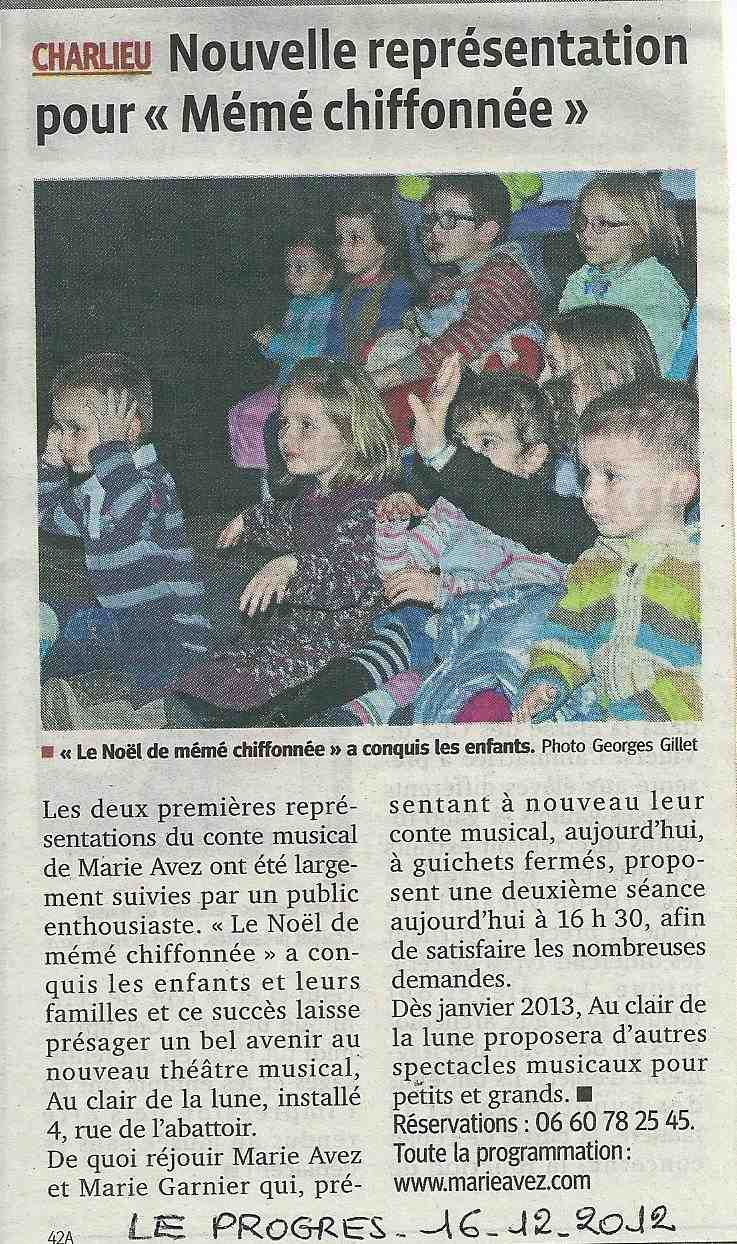 """""""Le Progrès"""" 16/12/12"""