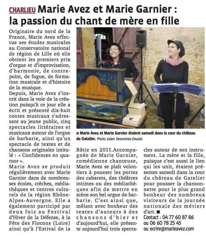 """""""Le Progrès"""" 08/04/14"""