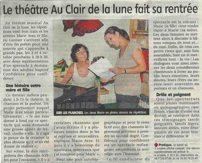 """""""Le Pays Roannais"""" 25/09/14"""