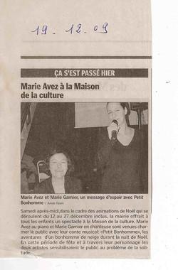 """""""Le Progrès"""" 19/12/09"""