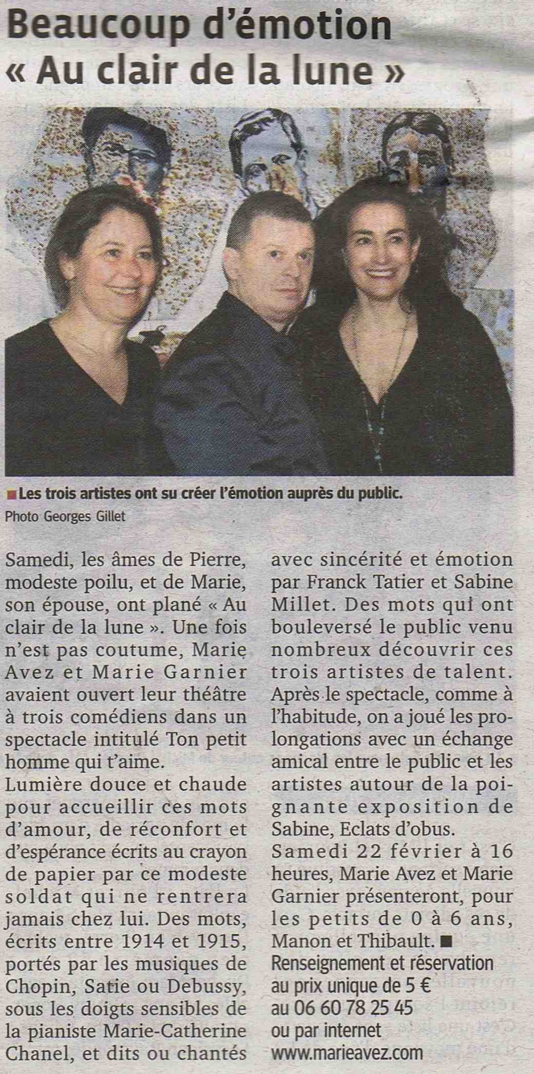 """""""Le Progrès"""" 17/02/14"""