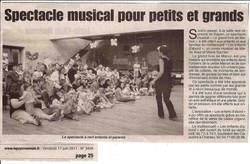 """""""Le Pays Roannais"""" 17/06/11"""