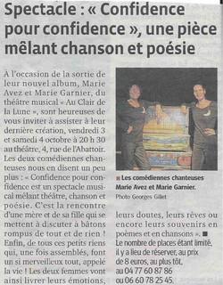 """""""Le Progrès"""" 22/09/14"""