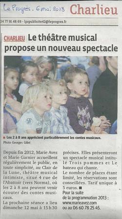 """""""Le Progrès"""" 06/05/13"""