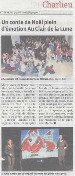 """""""Le Progrès"""" 16/12/13"""