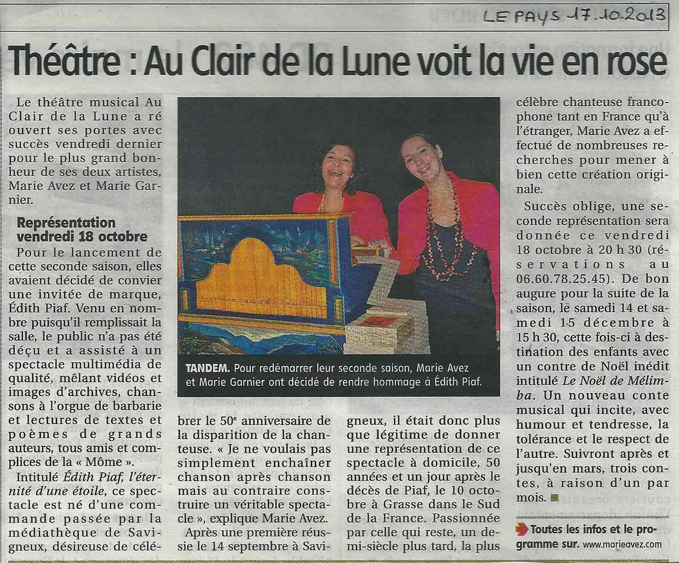 """""""Le Pays Roannais"""" 17/10/13"""