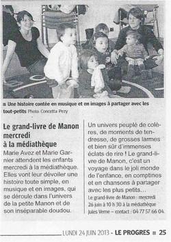 """""""Le Progrès"""" 24/06/13"""
