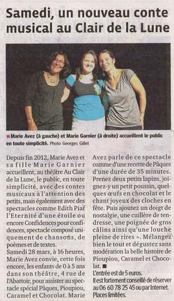 """""""Le Progrès"""" 27/03/15"""