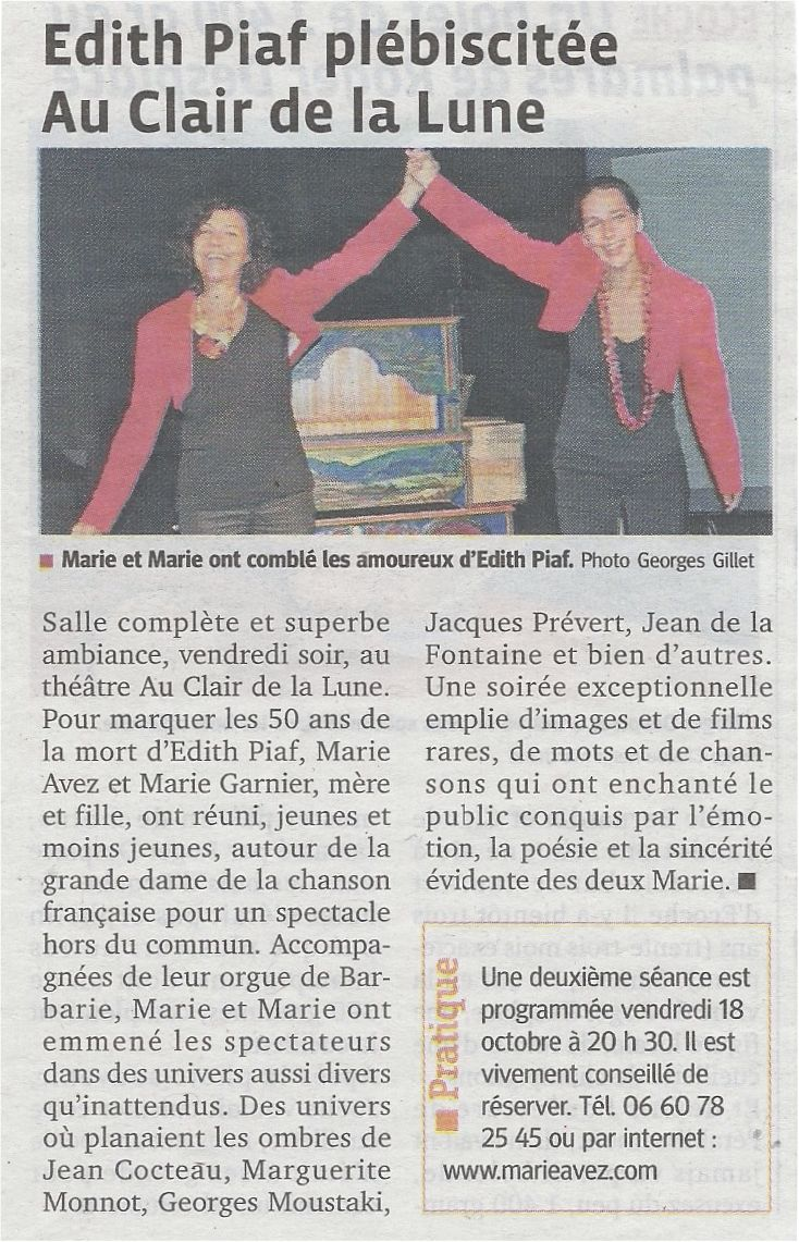 """""""Le Progrès"""" 14/10/13"""