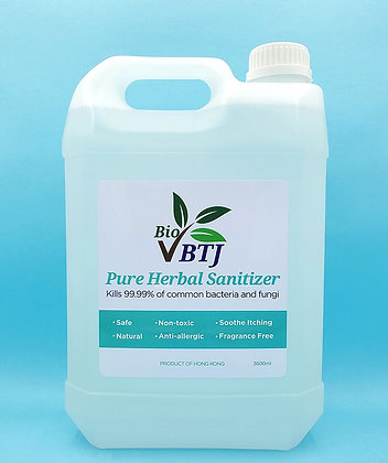 BTJ Bio Pure Herbal Sanitizer  3600ml - Multi Purpose Formula