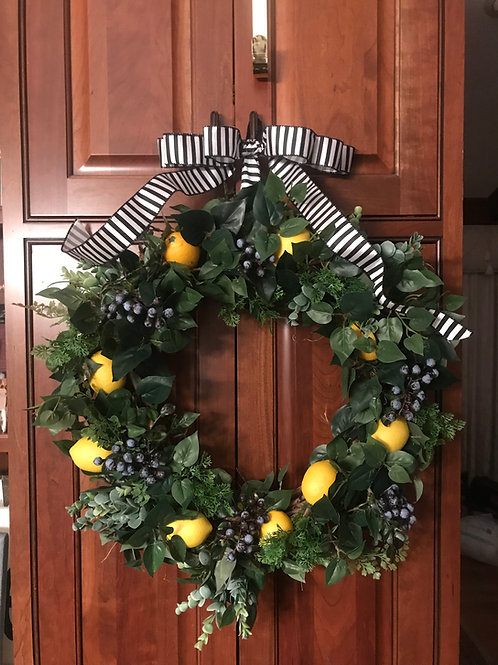 Lemons and Blueberry Wreath Examples