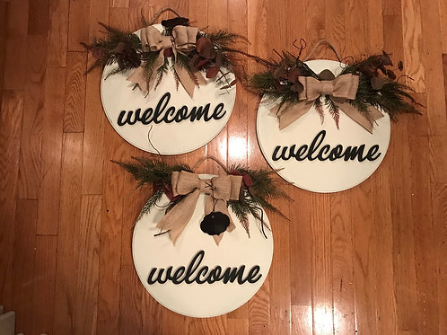 """15"""" welcome signs"""