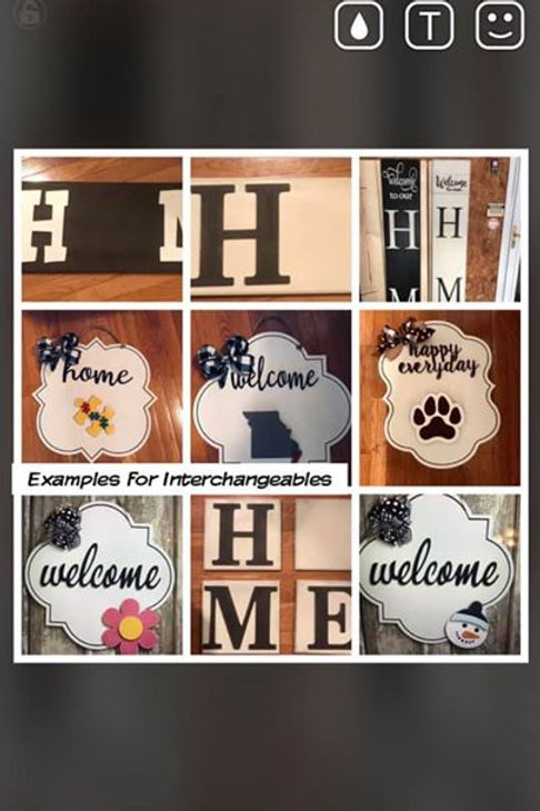 Interchangeable Signs