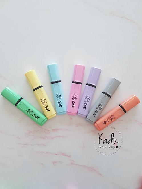 Resaltadores colores pasteles