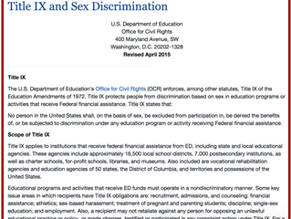 Title IX: Women's Athletic Teams Are Not Eliminating Men's Teams