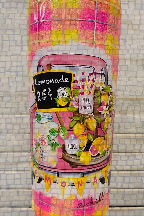 20oz Strawberry Lemonade Plaid Cup