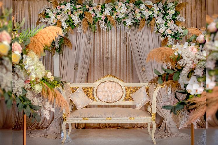 Wedding Floral Backdrop Stage