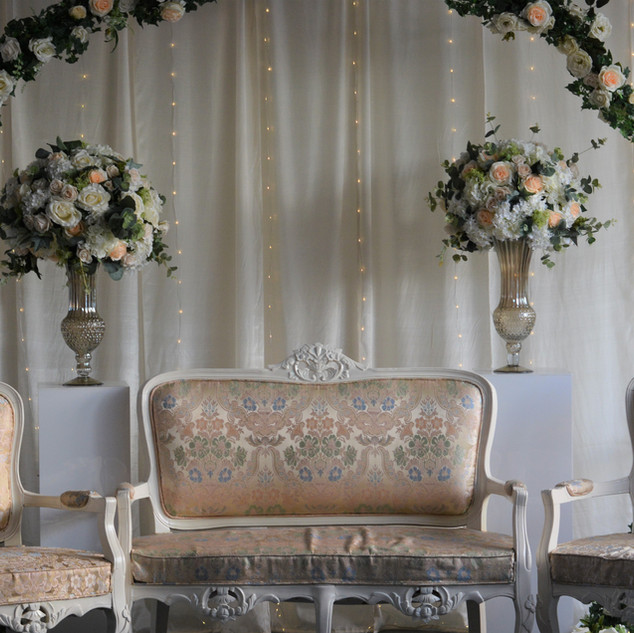 Elegant Ceremony Backdrop Stage