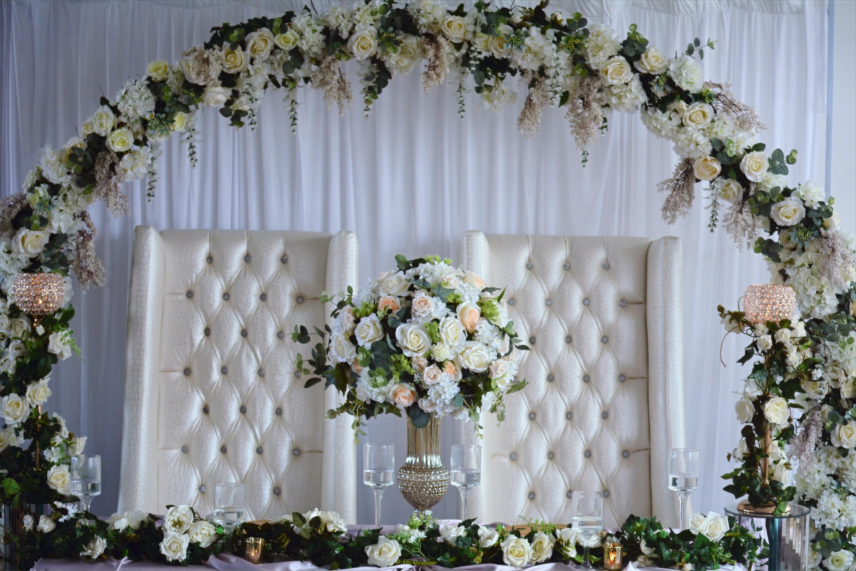 Complete Circular Ceremony Arch Head Table Decor
