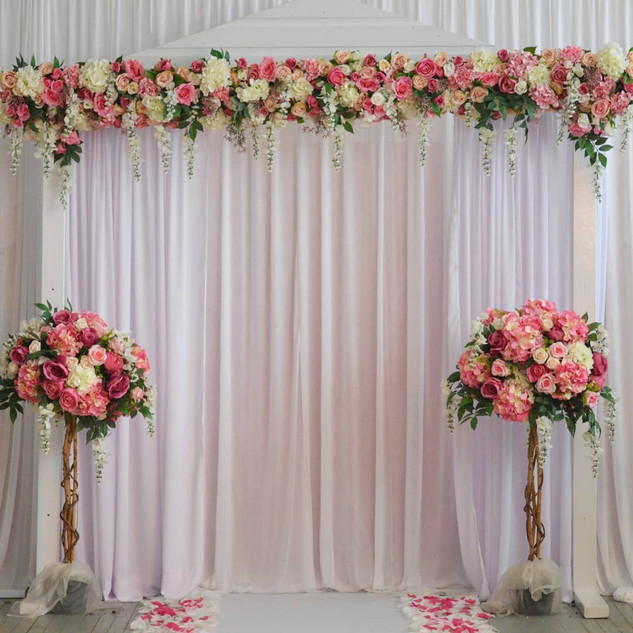 Heavenly Floral Arch Walkway