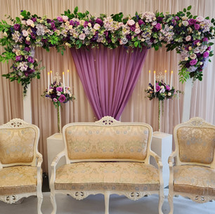 Purple Floral Arch Stage
