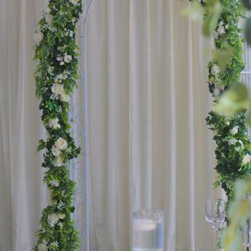 green foliage arch