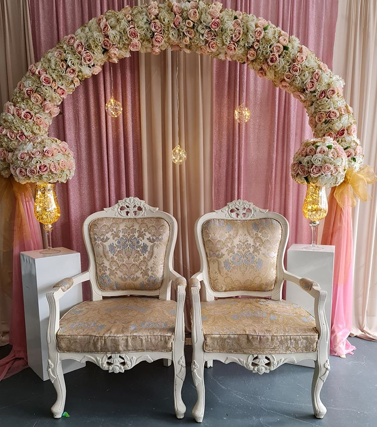 Circular Ceremony Arch Backdrop Stage