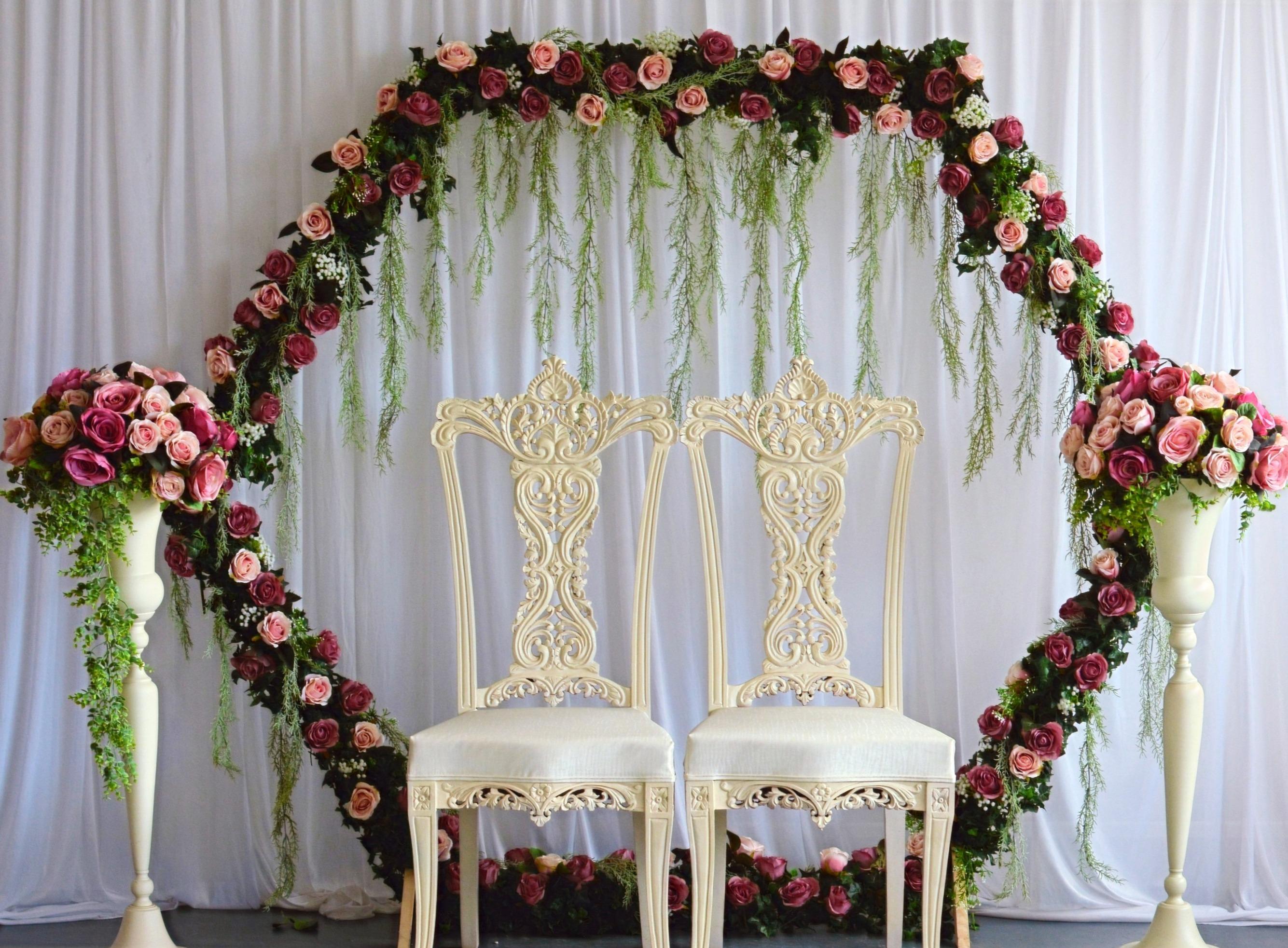 Hexagon Wedding Arch Backdrop