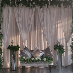 Greenery + Silver Arch Stage