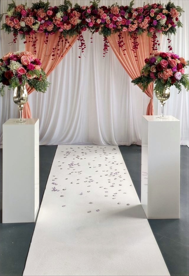 Complete Floral Arch Backdrop Aisle Runner