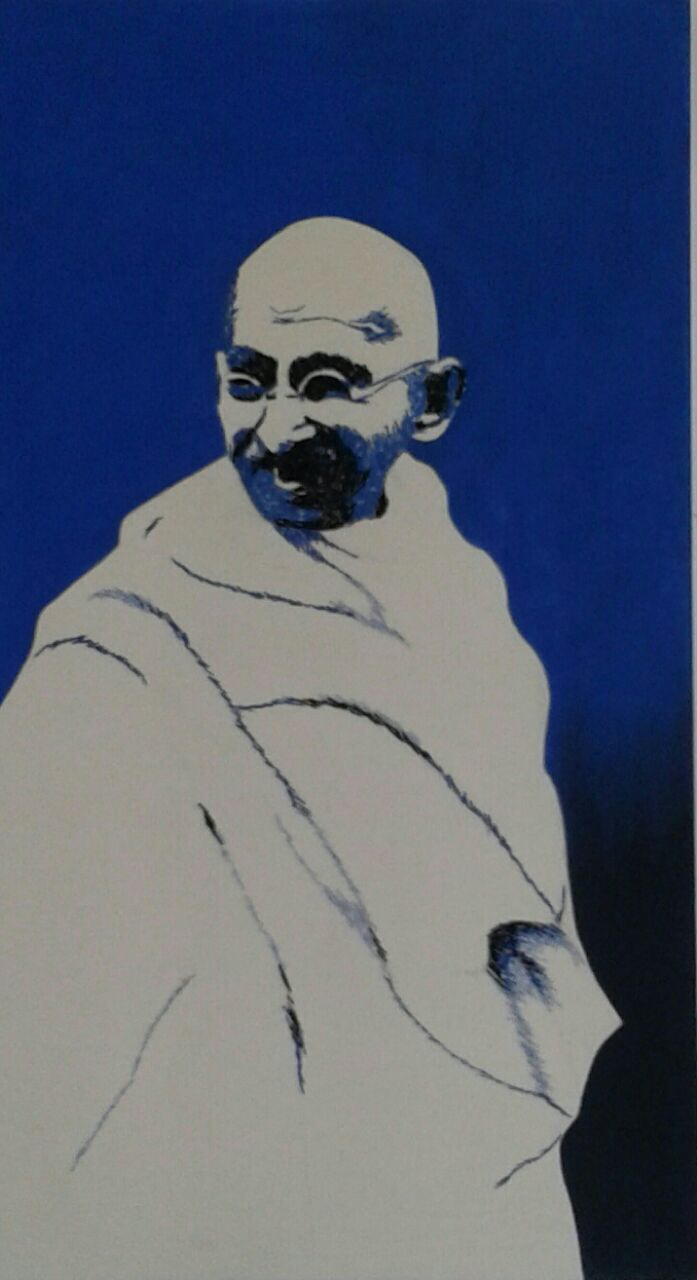 Gandhi in Blue