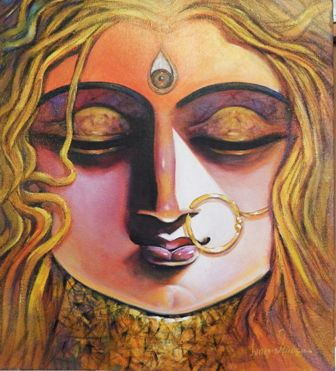 SHAKTI, Acrylic on Canvas, Size- 18x20 inch,2017, Rs.35000