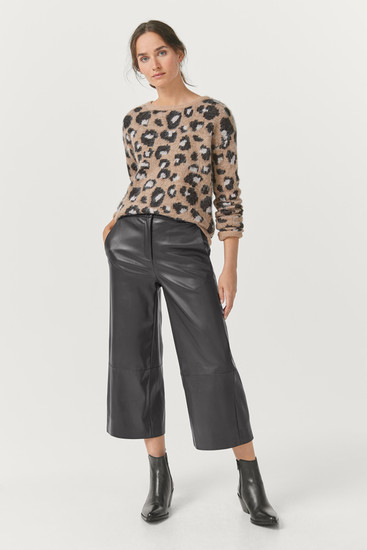 Vegan Leather Cropped Trousers