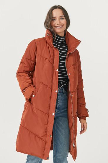 Rust Puffed Coat