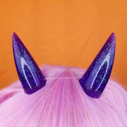 Purple glitter Fang