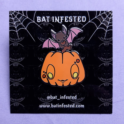 Pumpkin Bat Enamel Pin