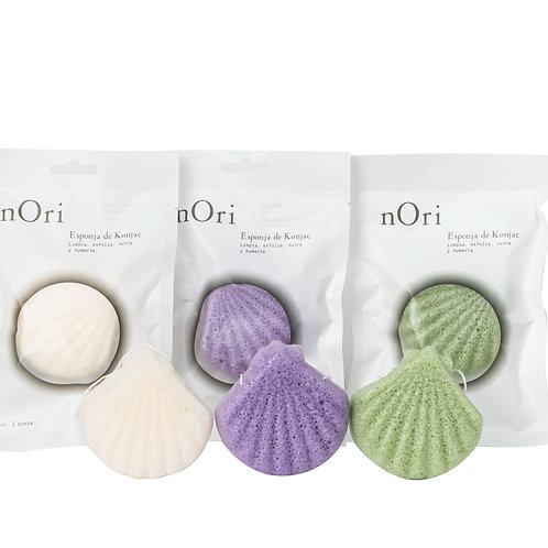 Paquete de 3 Esponjas Concha