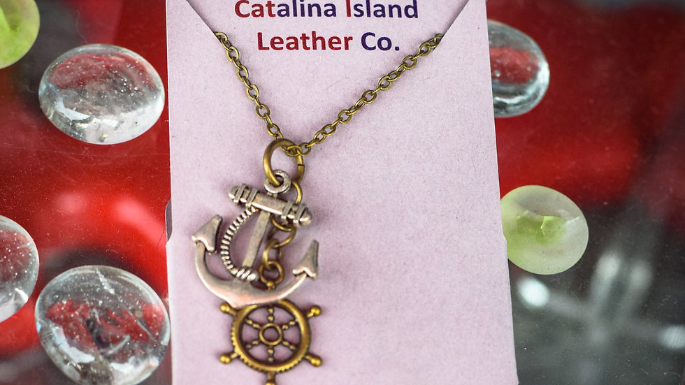 Sterling & brass nautical necklace